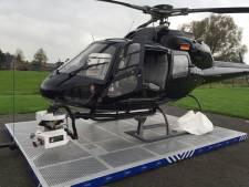 Helikopter filmt spoor en station in Zwolle voor ProRail