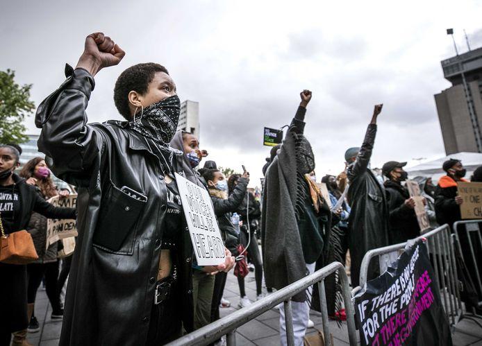 De Black Lives Matter-demonstratie in Utrecht.