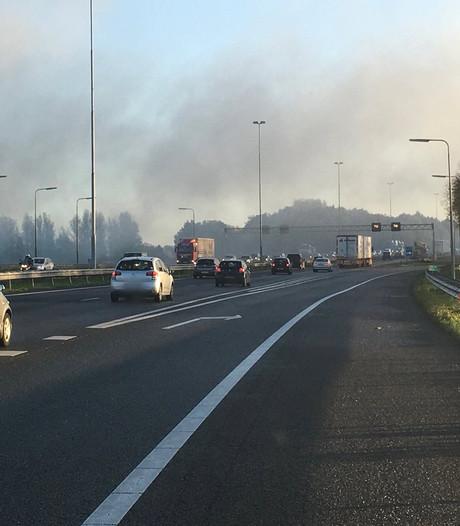 Brandlucht in Culemborg en Vianen door hooibrand Lexmond