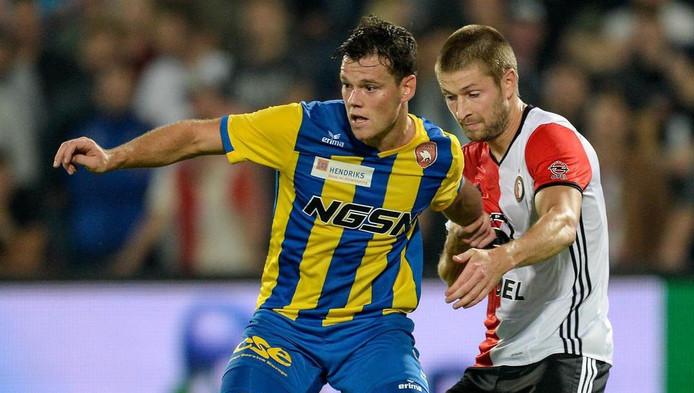 Tom Boere is in vorm bij FC Oss.