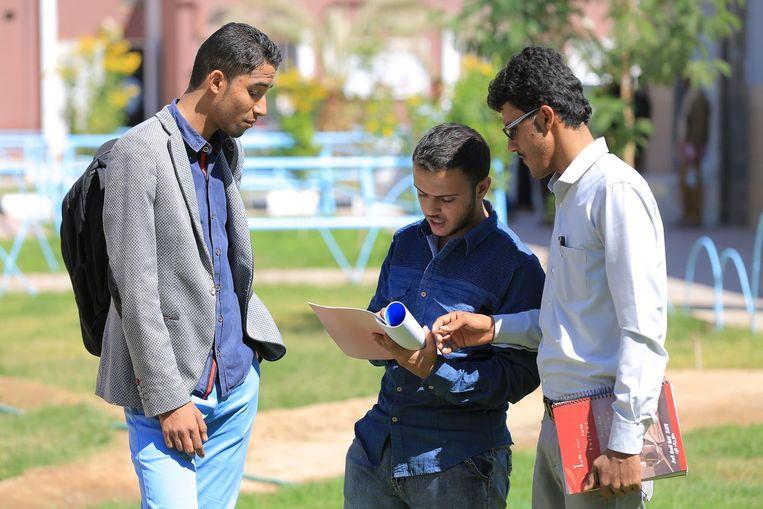 Studenten aan de universiteit Beeld Ana van Es