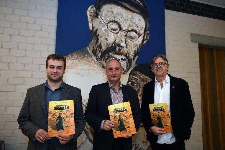 De mannen achter de strip: Ruben Boon, Bart Maessen en Jan Bosschaert.