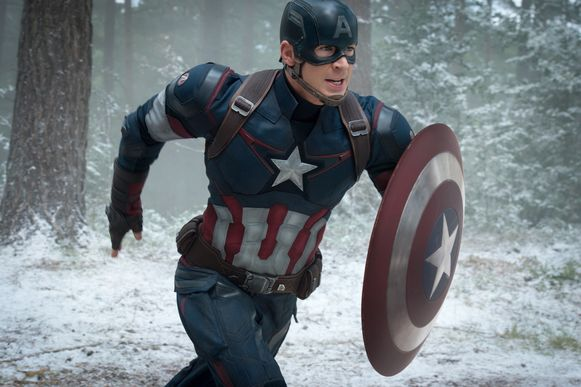 Chris Evans als Captain America/Steve Rogers in 'Avengers: Age of Ultron'.