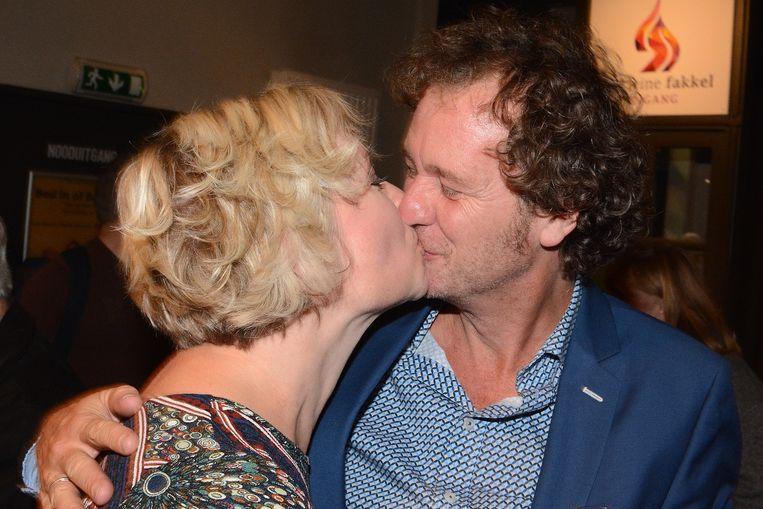Katrien De Becker en haar vriend partner Johan De Paepe