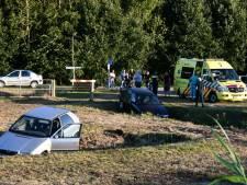 Opmerkelijk ongeval in Den Ham: 2 auto's in de sloot