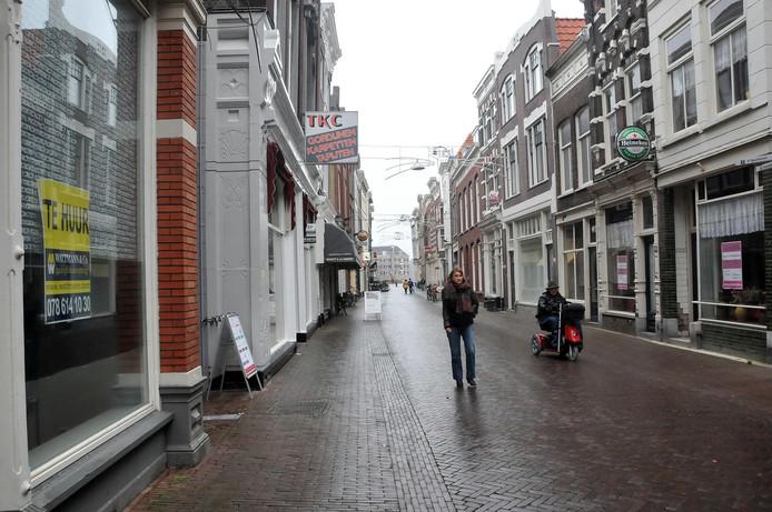 De leegstand van winkels in Dordrecht neemt toe.
