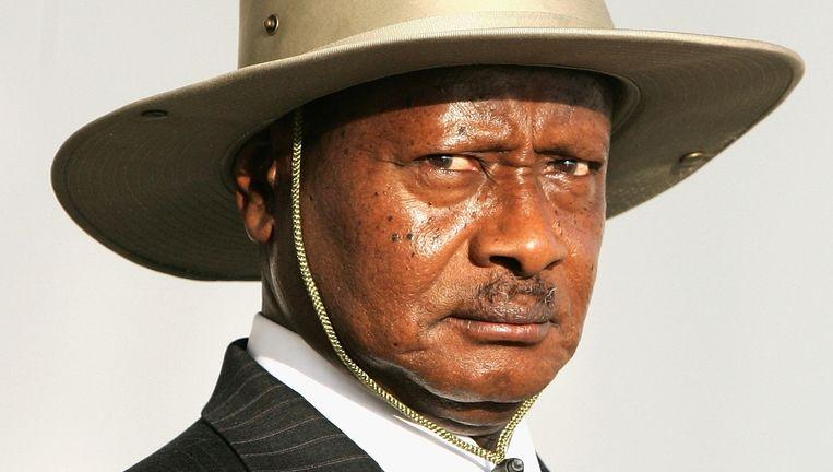 Yoweri Kaguta Museveni, president van Oeganda sinds januari 1986. Beeld GAMMA / RBP PRESS
