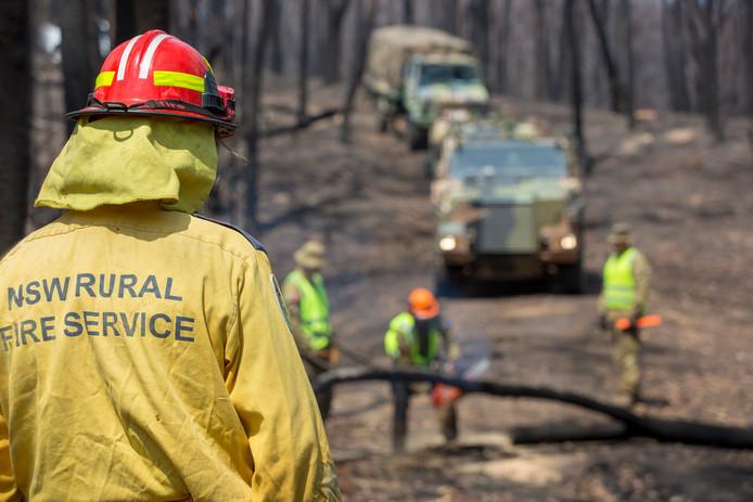 Brandweermannen van de RFS in New South Wales.