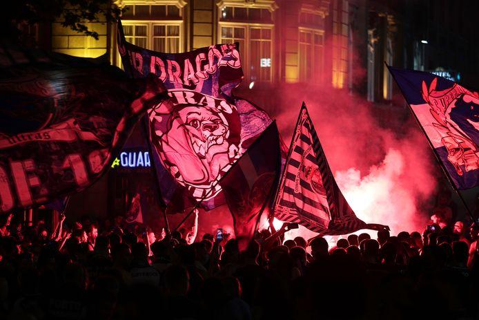 Feest in het centrum van Porto.