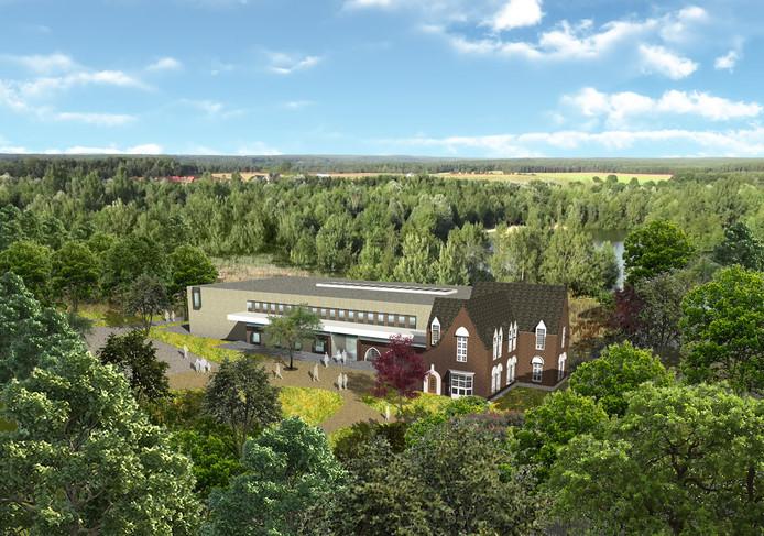 Het ontwerp van het nieuwe gemeentehuis in Waalre.