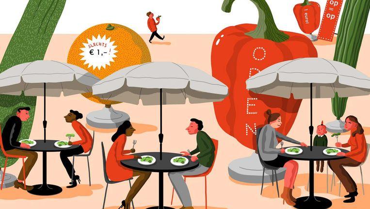 Consumptiesocioloog Hans Dagevos: 'De omgeving is op zijn minst stimulerend en sturend voor de manier waarop we consumeren' Beeld Nanne Meulendijks
