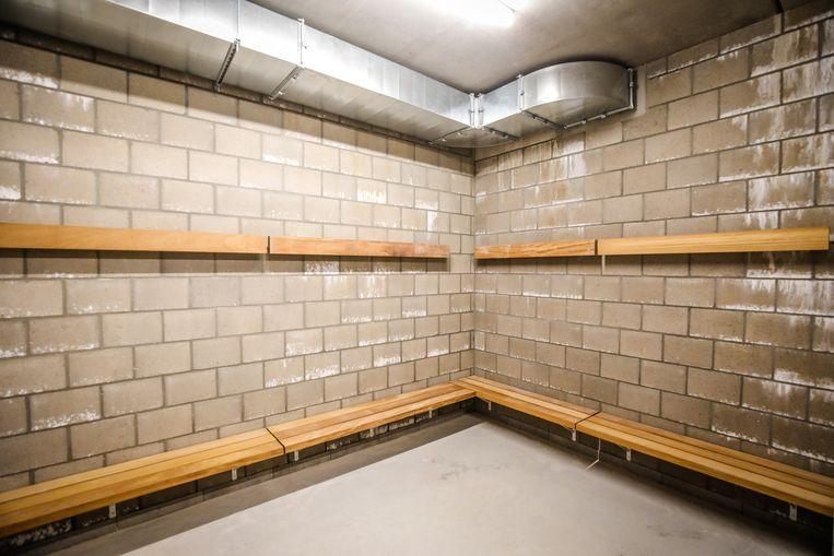 Zeven kleedkamers komen in het nieuwe voetbalgebouw.