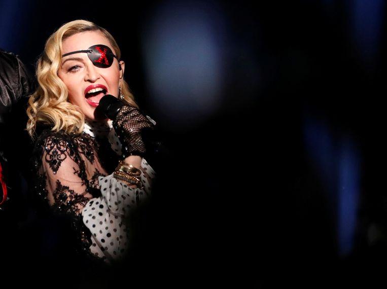 Madonna tijdens de Billboard Music Awardsshow in Las Vegas van mei van dit jaar.