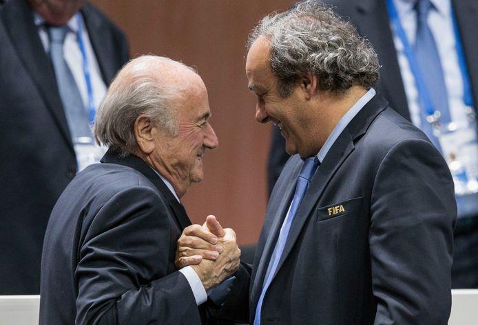 Blatter et Platini, en 2015