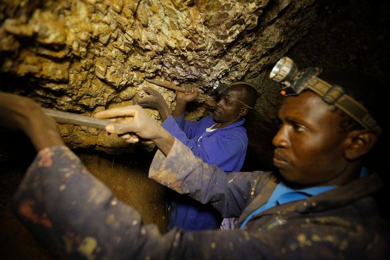 Een goudmijn nabij Soweto in Johannesburg.