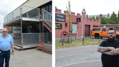 """Stellingbouwer Michel Van den Brande bouwt eerste terrastoren voor frituur 't Patatje: """"We kunnen zo hoog gaan als gewenst, the sky is the limit"""""""