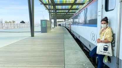 """Lidewij Nuitten brengt lockdownverhalen vanop de trein: """"De vluchteling die vastzat in Brussel-Noord heeft me het meest geraakt"""""""