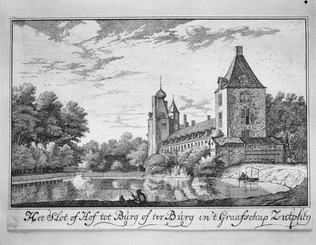 Een 18e eeuwse tekening van Huis Wisch.