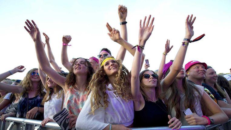 Fans van Avicii op festival Pinkpop. Beeld ANP