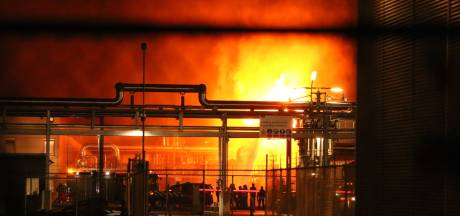 Grote brand in houtbedrijf op Industriepark Kleefse Waard in Arnhem