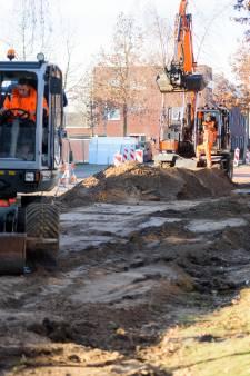 Piepschuim in grond tegen trillingen van busbanen in Eindhoven