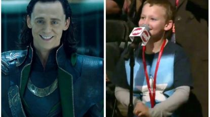 Kleine Marvel-fan voelt Tom Hiddleston aan de tand en steelt zo alle harten