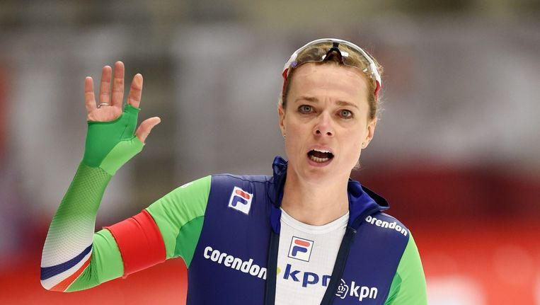 Marije Joling wint zilver op de 3000 meter. Beeld epa