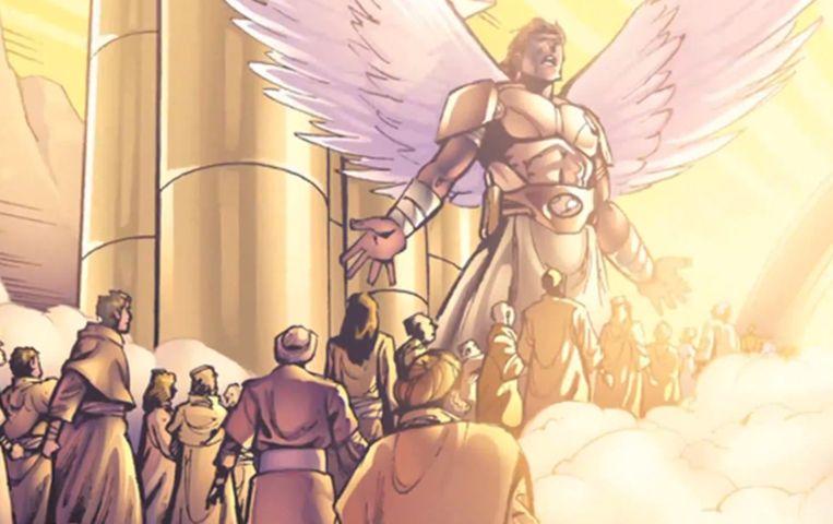 Fragment uit een eerdere strip van Kingstone, gebaseerd op het boek Eternity van Randy Alcorn. Beeld Kingstone Comics