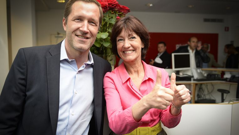 PS-voorzitter Paul Magnette en minister Laurette Onkelinx.