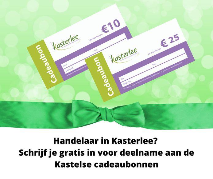 Bonnen van 10 en 25 euro