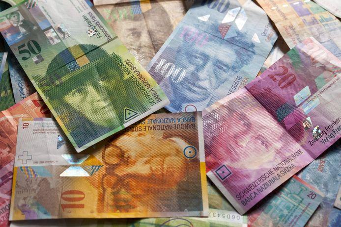 Zwitserse bankbiljetten.
