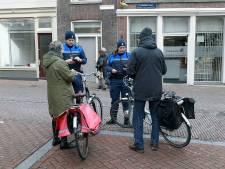 Fietsen door winkelgebied levert 16 fietsers een prent op van 55 euro