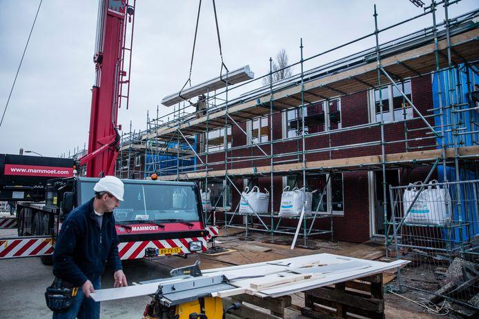 Huizen worden verstevigd in Groningen.