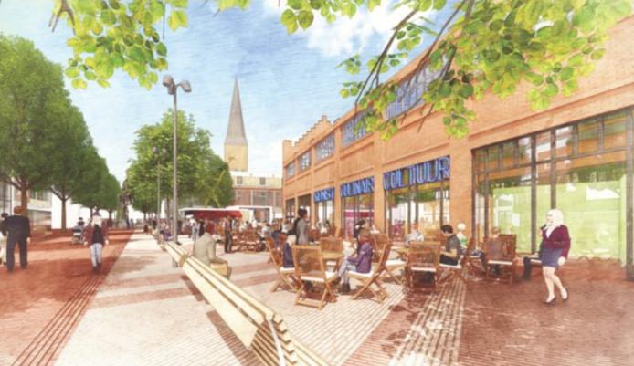 Het ontwerp van architectenbureau West8 voor het Hengelose Marktplein