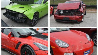Jeugdige inbrekers rijden twintig dure wagens in de prak: meer dan 800.000 dollar schade