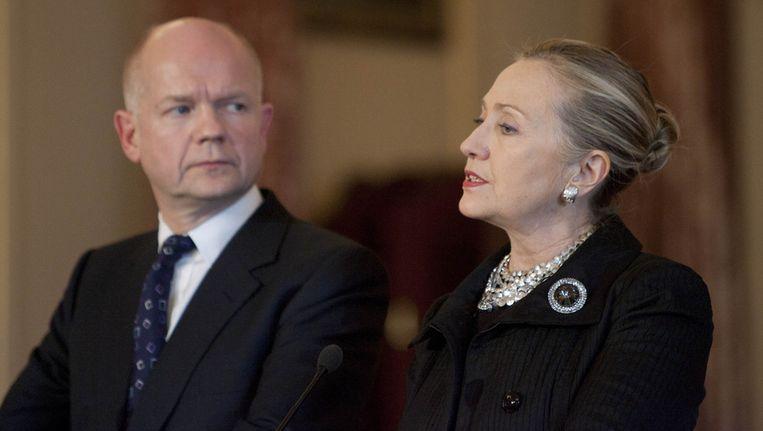 Hague en Clinton. Beeld null