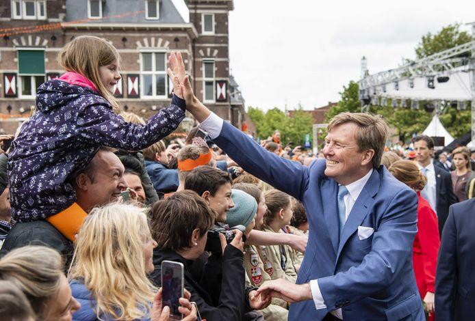 Koning Willem-Alexander tijdens Koningsdag 2019 in Amersfoort.