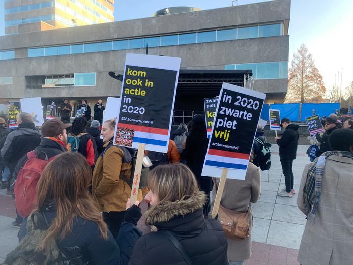 Anti Zwarte Pietendemonstratie in Eindhoven.
