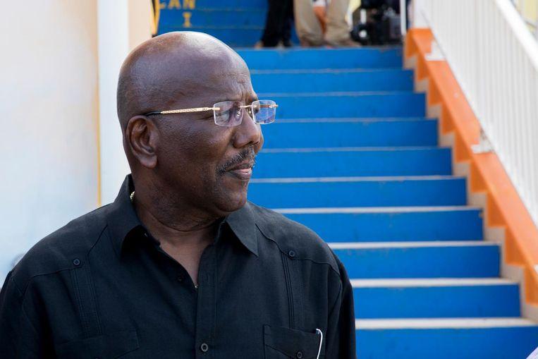 Dit is William Marlin, afgezette premier Sint Maarten. Beeld anp