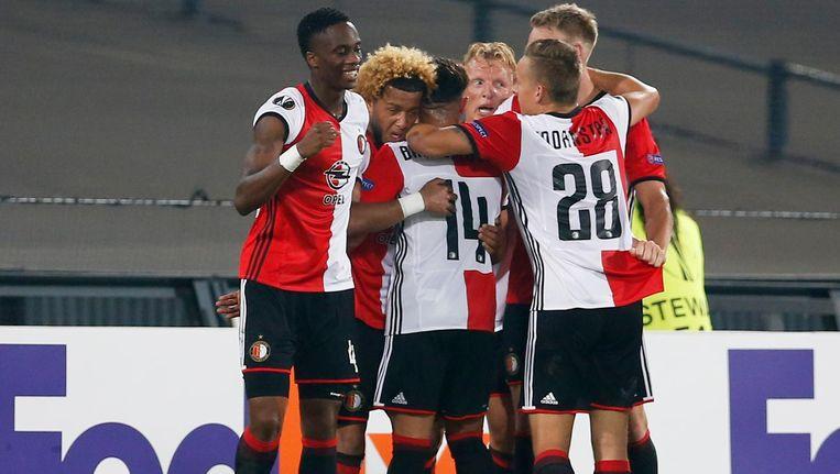 Feyenoord viert de 1-0. Beeld reuters