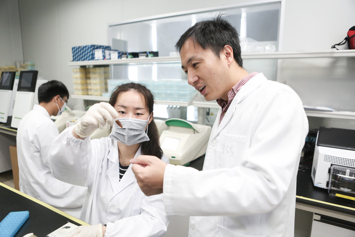Biological researcher He Jiankui.