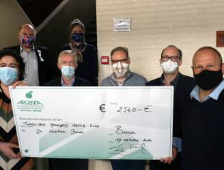Cheque van 2.540 euro voor De Watertoren dankzij 'Beerse troost met bubbels van Bart'