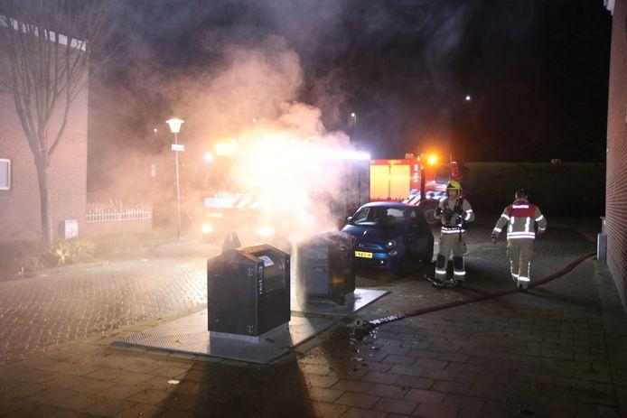 Vlaardingen werd begin deze maand ook opgeschrikt door meerdere containerbranden.