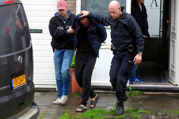 De politie hield de Roosendaalse verdachte vorige maand thuis aan.