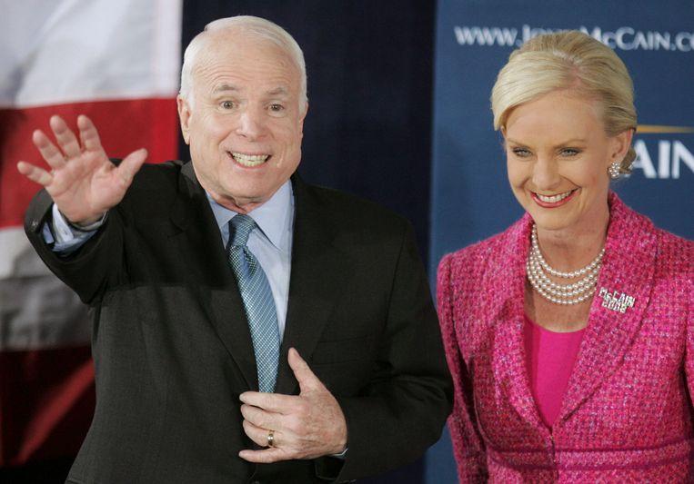 John McCain en zijn vrouw Cindy in 2008.