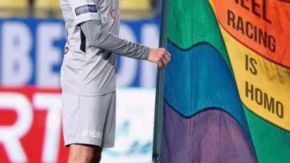 """'Trossard en de regenboogvlag', een grap die lang niet iedereen grappig vindt. """"Stop met 'homo' als scheldwoord te gebruiken!"""""""