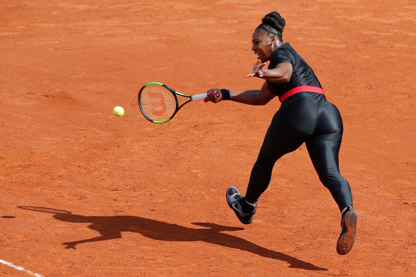 Serena Williams in haar 'catsuit'.