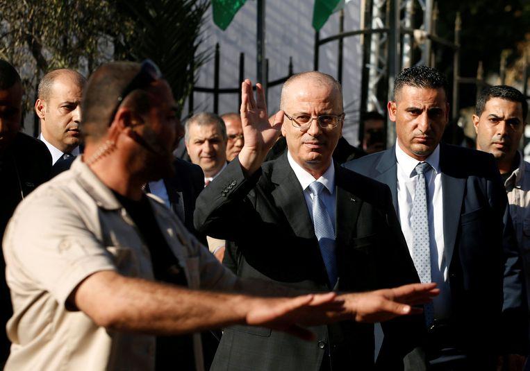 Premier Rami Hamdallah bleef ongedeerd.