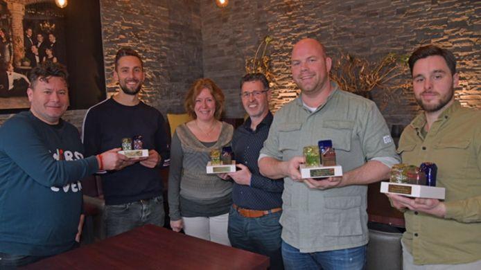 Januari vorig jaar reikte Oisterwijk Centraal awards uit aan Alwin Houwing en Eric Haenen (The Inside), Karin en Eric Rentmeester (Mentorhulp Oisterwijk), Niels Janse (SEC) en Melvin Marsé (Natuurtheater).