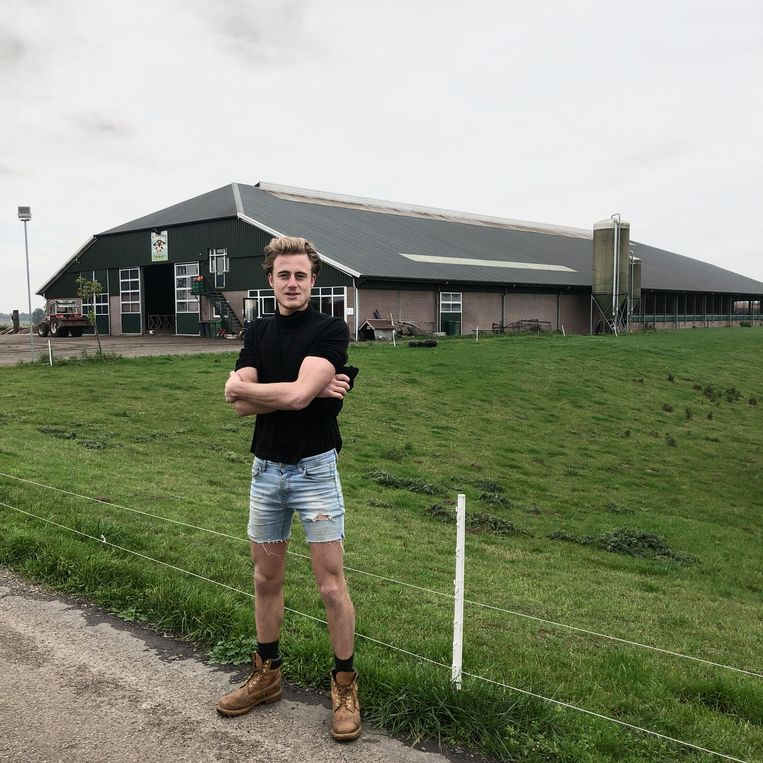 Wim Reijers voor zijn megastal. Beeld Toine Heijmans
